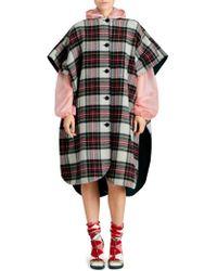 Burberry - Tartan Wool-blend Poncho - Lyst