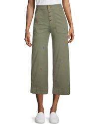 Sundry - Embroidered Button-front Pants - Lyst