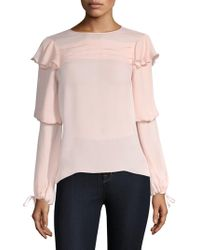 Parker - Finch Long-sleeve Solid Blouse - Lyst