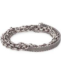 Title Of Work - Sterling Silver Four-wrap Bracelet - Lyst
