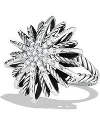 David Yurman - Starburst Medium Ring With Diamonds - Lyst