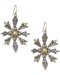 Alexis Bittar | Pave Snowflake Drop Earrings | Lyst