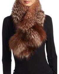 Saks Fifth Avenue - Fox Fur Stole - Lyst