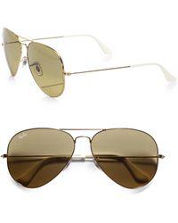 Ray-Ban   Original Metal Aviator Sunglasses   Lyst
