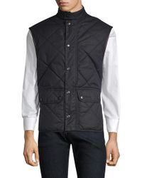 Barbour Countrywear Wax Lowerdale Quilted Vest - Blue