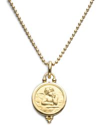 Temple St. Clair - Angel 18k Yellow Gold Medium Pendant - Lyst