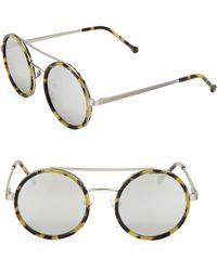 Colors In Optics - Bowie 51mm Round Sunglasses - Lyst