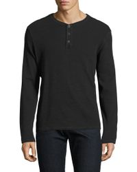 AG Jeans - Anders Cotton Henley - Lyst