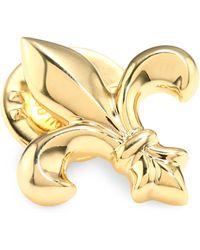 David Donahue - 14k Gold Fleur De Lis Lapel Pin - Lyst