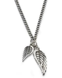 King Baby Studio - Double Wing Pendant Necklace - Lyst