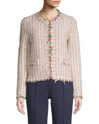 Tory Burch - Hollis Frayed Cardigan - Lyst