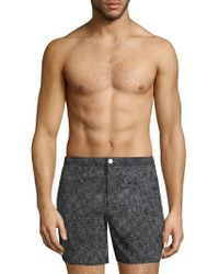 Theory - Printed Swim Trunks - Lyst