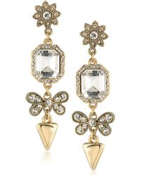 ABS By Allen Schwartz - Linear Crystal Drop Earrings - Lyst