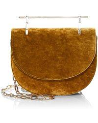 M2malletier - Mini Half Moon Silk Velvet Crossbody Bag - Lyst