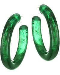 Lizzie Fortunato - Rome Chunky Hoop Earrings - Lyst