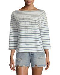 Polo Ralph Lauren - Three-quarter Sleeve Stripe Tee - Lyst