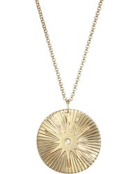 Jennifer Zeuner - Iris Diamond Pendant Necklace - Lyst