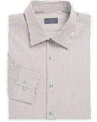Pal Zileri   Striped Cotton Dress Shirt   Lyst