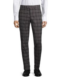 J.Lindeberg - Grant Slim-fit Check Trousers - Lyst