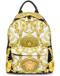 42fad4989553 Versace - Men s Medusa Barocco Hibiscus Print Backpack - Multi Color Nero -  Lyst