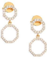 Phillips House - Double Open Hero Diamond & 14k Yellow Gold Drop Earrings - Lyst