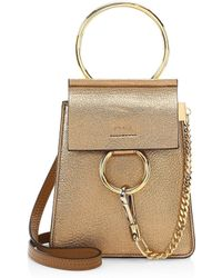 Lyst - Chloé  faye  Small Suede Flap Leather Crossbody Bracelet Bag ... d812b8ddf