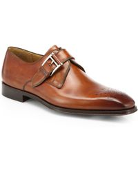 Saks Fifth Avenue - Double-buckle Leather Monk Strap Shoes - Lyst