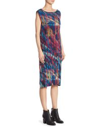 Issey Miyake - Double Stream Pleated Dress - Lyst