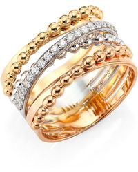 Hueb - Bubbles Diamond & 18k Rose Gold Ring - Lyst