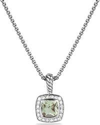 David Yurman - Petite Albion Pendant With Diamonds On Chain - Lyst