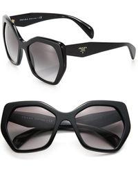 Prada - Angular 56mm Pentagonal Sunglasses - Lyst