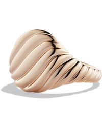 David Yurman - Cable Pinky Ring In Rose Gold - Lyst
