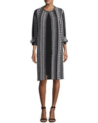 St. John - Ombre Stripe Tweed Jacket - Lyst