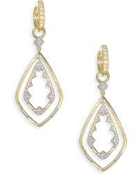 Jude Frances - Lisse Diamond Double Drop Kite Earrings - Lyst