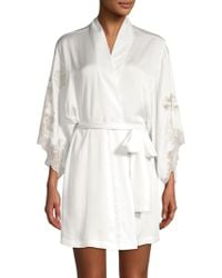 Natori - Satin Lace Robe - Lyst