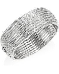 Adriana Orsini - Striped Side Crystal Hinge Bracelet - Lyst