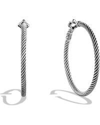 David Yurman | Cable Classics Large Hoop Earrings | Lyst