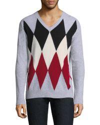 Eleventy - Diamond V-neck Sweater - Lyst