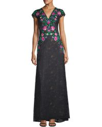 Tadashi Shoji - Floral Embroidered Gown - Lyst