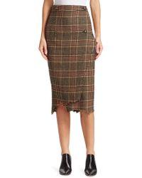 Vetements - Tweed Checked Pencil Skirt - Lyst