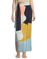 Mara Hoffman - Cora Colorblock Wrap Skirt - Lyst