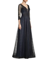 Basix Black Label - Deep-v Lace Ball Gown - Lyst