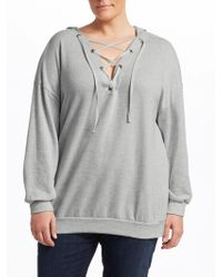 Slink Jeans - Lace-up Cotton Hoodie - Lyst