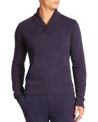 Wahts - Cotton & Cashmere Shawl-collar Sweater - Lyst