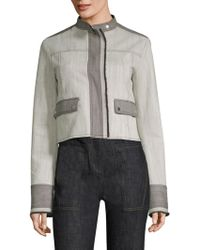Derek Lam - Two-tone Cropped Jacket - Lyst