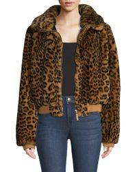 Generation Love - Heidi Leopard Faux Fur Bomber Jacket - Lyst