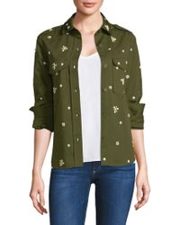 Joie - Hayfa Embellished Front Button Blouse - Lyst