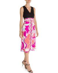 Emilio Pucci - Printed Silk Fit-&-flare Dress - Lyst