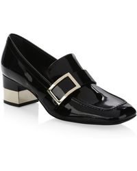 Roger Vivier - Leather Buckle Loafers - Lyst