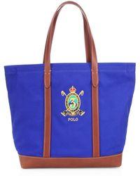 Men s Pebbled Leather Duffle Bag - Blue.  698. Saks Fifth Avenue · Polo Ralph  Lauren - Crest Canvas Tote - Lyst bc6268df1b